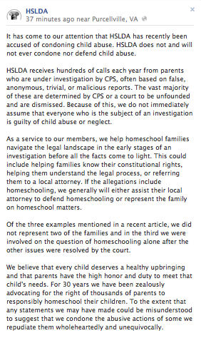 Fighting Abuse Together: #HSLDAMustAct | Homeschoolers Anonymous