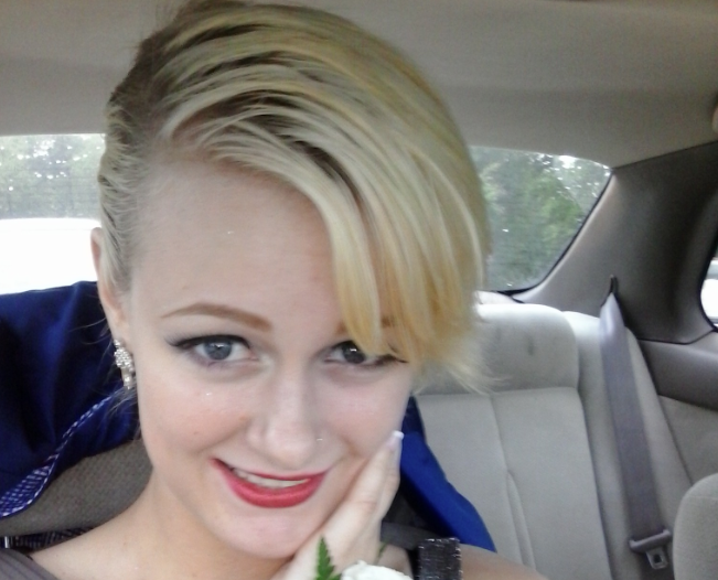 Clare on the way to homeschool prom. Photo source: http://www.hannahettinger.com/fuck-the-patriarchy-guest-post-by-clare/