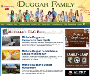 Nearly every ad on the right hand side of the Duggar Family's website is to one of Bill Gothard's programs.