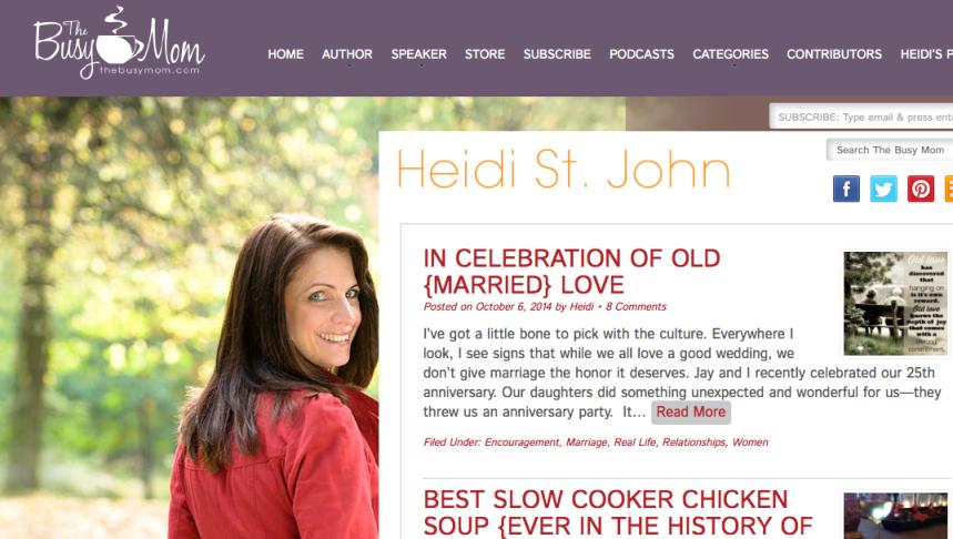 Screenshot from http://heidistjohn.com.