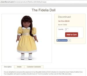 Vision Forum Fidelia doll