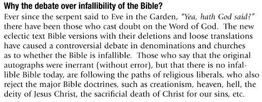 KJV infallibility