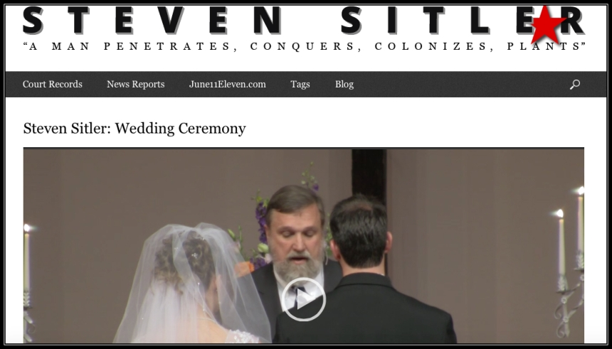 The website http://sitler.moscowid.net originally hosted a video of Wilson officiating Sitler's wedding before the video's owner requested it removed.