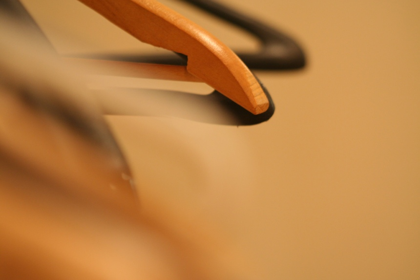 Blurry, Wooden Hangers