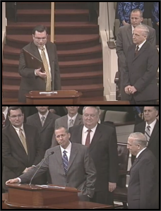 Top: On behalf of the Christian Law Association, David C. Gibbs III (left) awards Dr. Earl Jessup (front, right) the Jack Hyles Memorial Award at First Baptist Church Hammond in 2010. Bottom: David C. Gibbs III and David C. Gibbs Jr. look on as Jack Hyles' son-in-law Jack Schaap congratulates Dr. Jessup for the Christian Law Association award. Two years later Schaap pleads guilty for trafficking a girl across state lines and raping her. Despite personal relationships with church leadership, the Christian Law Association is hired by the church to conduct an internal investigation.